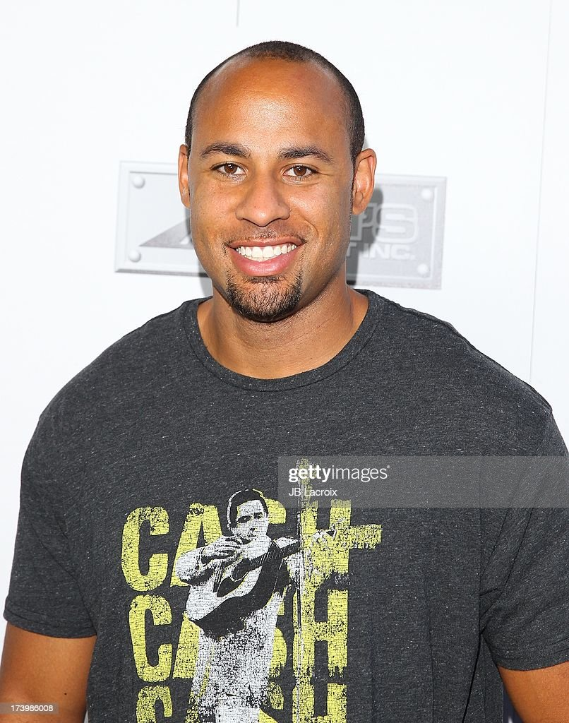 Hank Baskett attends the Matt Leinart Foundation's 7th Annual 'Celebrity Bowl' at Lucky Strikes on July 18, 2013 in Hollywood, California.