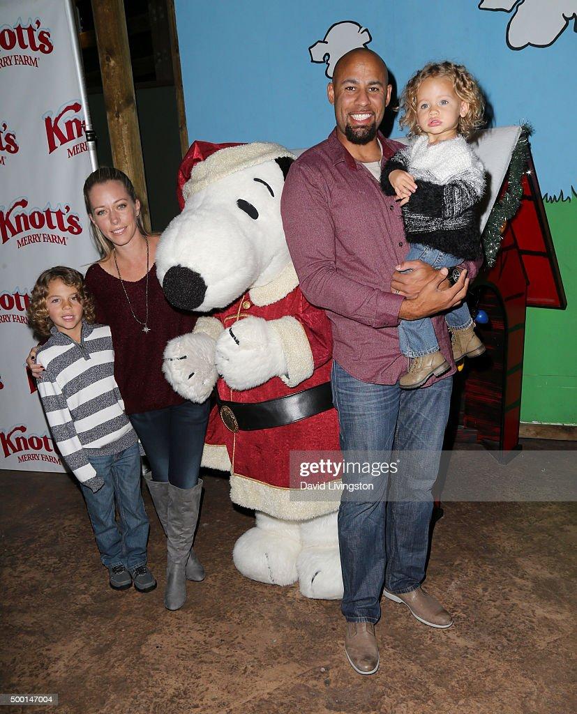 Hank Baskett IV Kendra Wilkinson Snoopy Hank Baskett and Alijah Baskett attend Knott's Berry Farm's Countdown To Christmas And Snoopy's Merriest Tree...