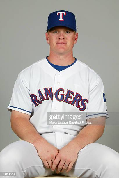 Hank Blalock of the Texas Rangers on February 26 2004 in Surprise Arizona