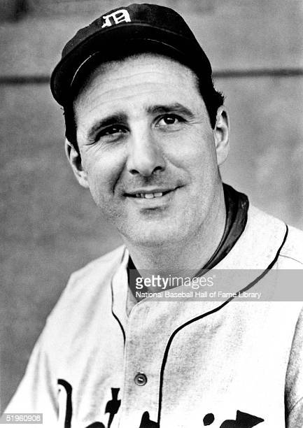 Hank Greenberg of the Detroit Tigers poses for a portrait during a season game Hank Greenberg played for the Detroit Tigers from 19301946 then...