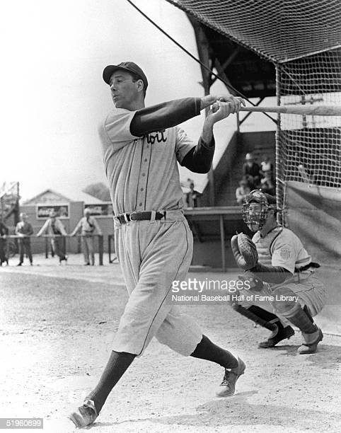 Hank Greenberg of the Detroit Tigers swings at the pitch during a season game Hank Greenberg played for the Detroit Tigers from 19301946 then...