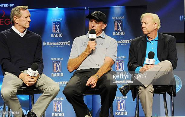 Hank Haney David Leadbetter and Jim McLean on SiriusXM PGA TOUR Radio's Teacher's Town Hall at The PGA Merchandise Show In Orlando Florida on January...