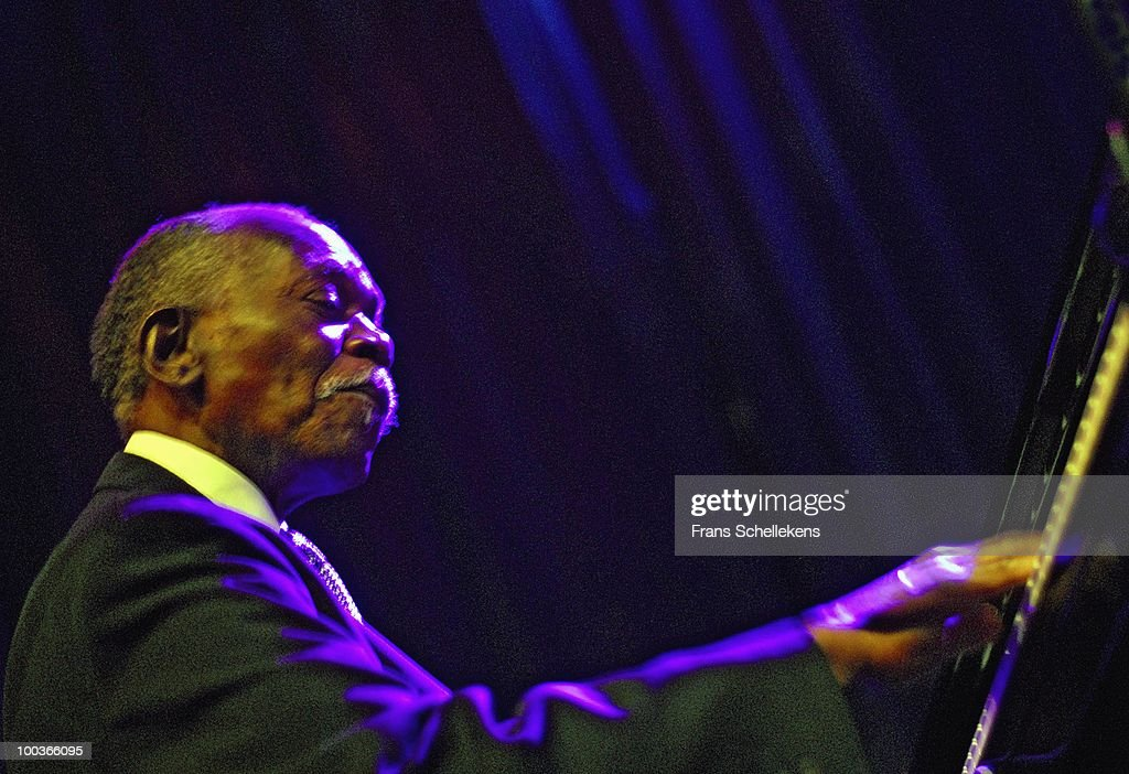 Hank Jones performs live on stage at the North Sea Jazz Festival at Ahoy in Rotterdam, Netherlands on July 15 2006