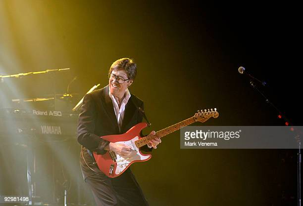 Hank Marvin performs live with Cliff Richard and The Shadows at Ahoy on November 10 2009 in Rotterdam Netherlands