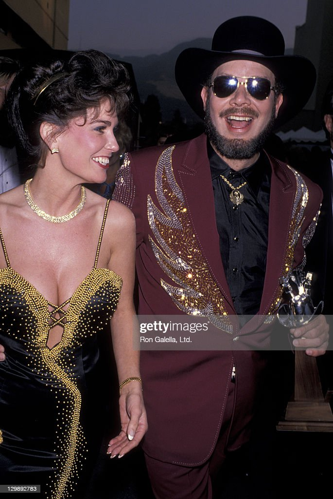 Hank Williams Jr. and wife Mary Jane Williams attend 24th Annual Academy of Country Music Awards on April 10, 1989 at Disney Studios in Burbank, California.