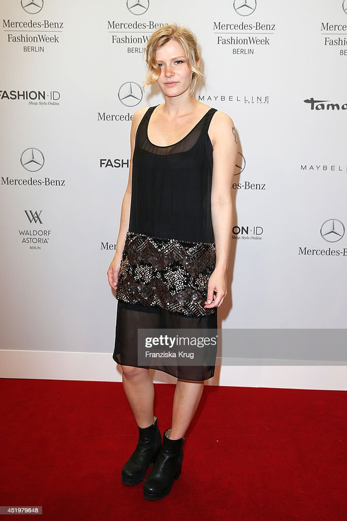 Hanna Antonsson attends the Laurel show during the Mercedes-Benz Fashion Week Spring/Summer 2015 at Erika Hess Eisstadion on July 10, 2014 in Berlin, Germany.