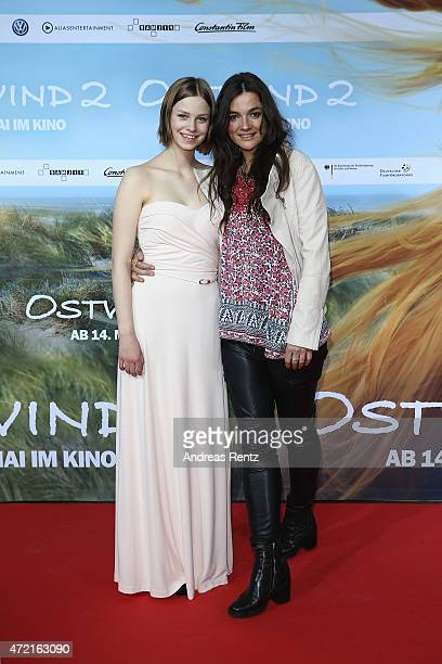 Hanna Binke and director Katja von Garnier attend the Frankfurt premiere of the film 'Ostwind 2' at Cinestar on May 4 2015 in Frankfurt am Main...