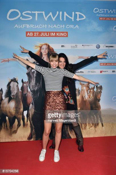 Hanna Binke and Katja von Garnier during the 'Ostwind Aufbruch nach Ora' premiere n Munich at Mathaeser Filmpalast on July 16 2017 in Munich Germany