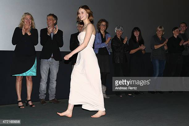 Hanna Binke attends the Frankfurt premiere of the film 'Ostwind 2' on May 4 2015 in Frankfurt am Main Germany
