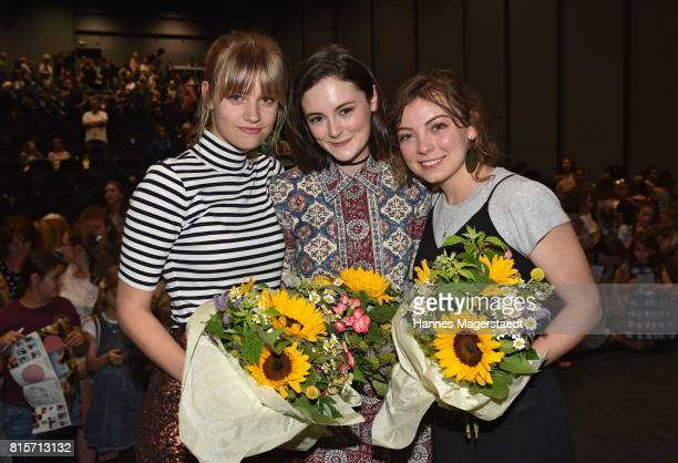 Hanna Binke Lea van Acken and Nicolette Krebitz during the 'Ostwind Aufbruch nach Ora' premiere n Munich at Mathaeser Filmpalast on July 16 2017 in...