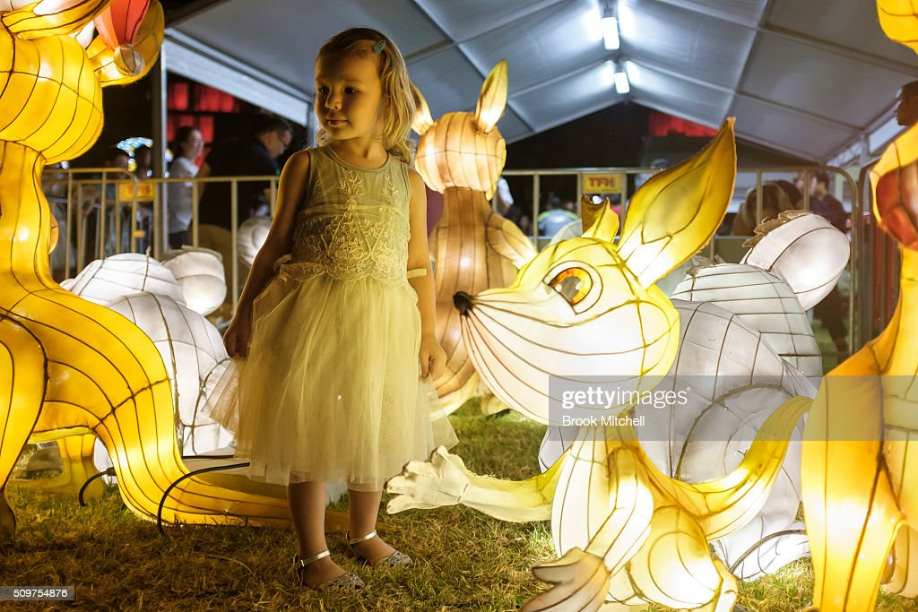 Hanna Hughes, age 2, at the Chinese New Year Lantern Festival at Tumbalong Park on February 12, 2016 in Sydney, Australia. The lighting of lanterns is a centuries old tradition that marks the end of the Chinese New Year Festival.