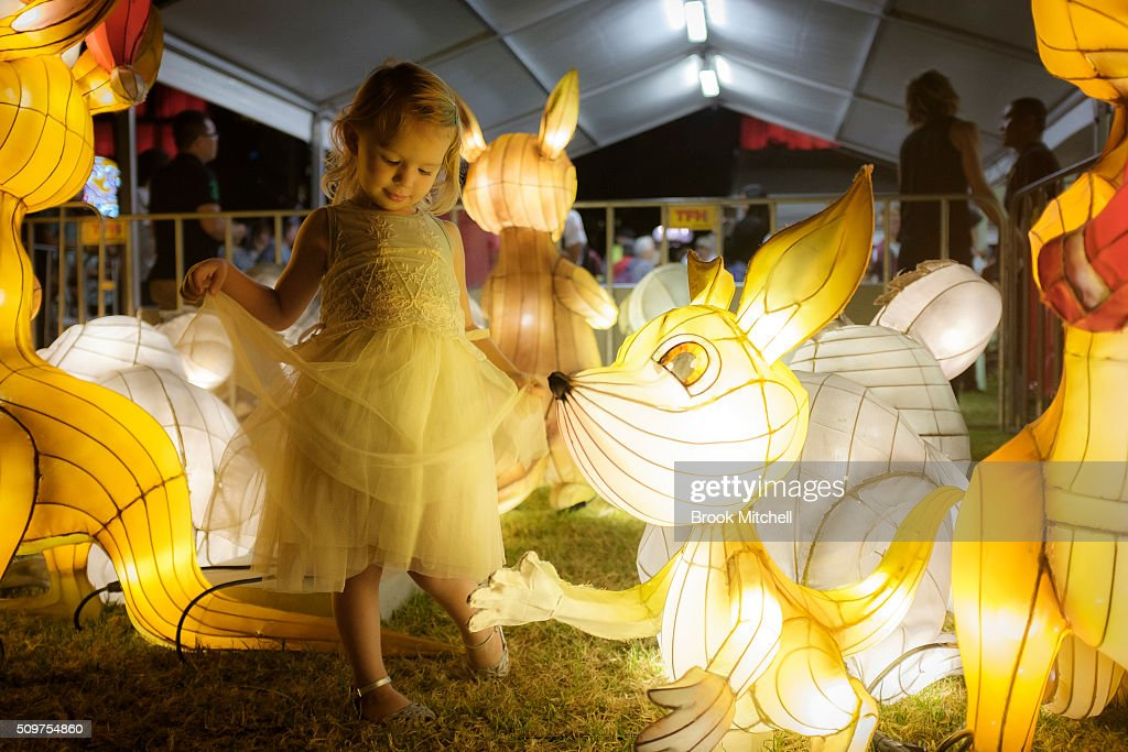 Hanna Hughes, 2, at the Chinese New Year Lantern Festival at Tumbalong Park on February 12, 2016 in Sydney, Australia. The lighting of lanterns is a centuries old tradition that marks the end of the Chinese New Year Festival.