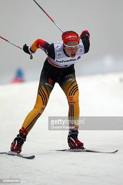 Hanna Kolb of Germany competes in the Women's 15km qualification free sprint at the Viessmann FIS Cross Country World Cup event at DKB Ski Arena on...