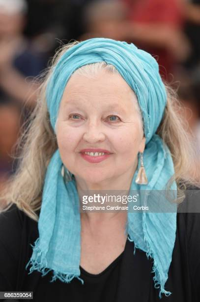Hanna Schygulla attends the 'Fortunata' photocall during the 70th annual Cannes Film Festival at Palais des Festivals on May 21 2017 in Cannes France