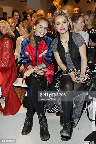 Hanna Wie und Caro Cult attend the Dorothee Schumacher show during the MercedesBenz Fashion Week Berlin A/W 2017 at Kaufhaus Jandorf on January 17...
