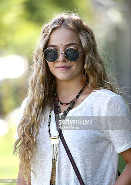 Hanna York of Moorepark Ca wearing Urban Outfitters Sunglasses and accessories during the Coachella Valley Music and Arts Festival Weekend 1 at The...