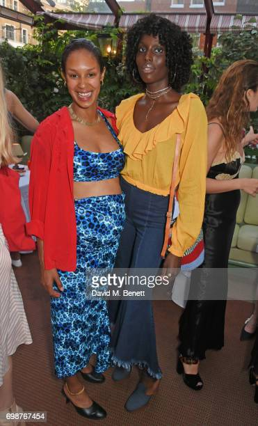 Hannagh Rose and Jenny Bastet attend a cocktail evening to celebrate the Edie Parker Resort 2018 collection at Mark's Club on June 20 2017 in London...