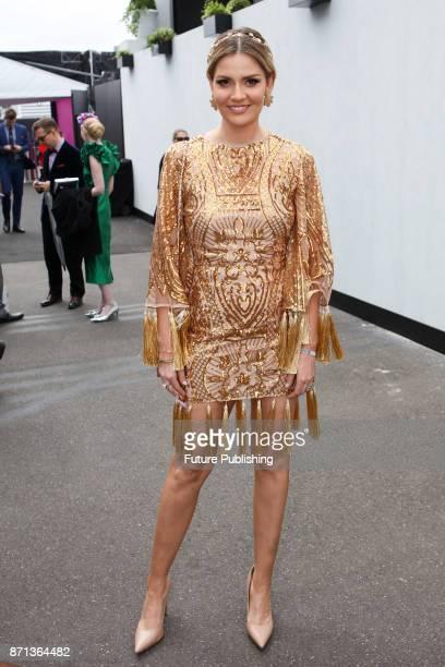 Hannah Amos arrives at the Melbourne Cup Carnival on November 7 2017 in Melbourne Australia Chris Putnam / Barcroft Images