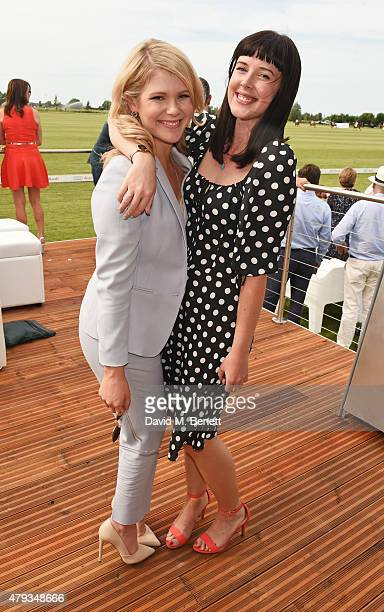 Hannah Arterton and Alexandra Roach attend the Audi Polo Challenge 2015 at Cambridge County Polo Club on July 3 2015 in Cambridge England
