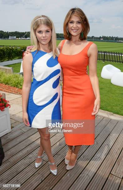 Hannah Arterton and Gemma Arterton attend Audi International at Guards Polo Club near Windsor to support England as it faces Argentina for the...