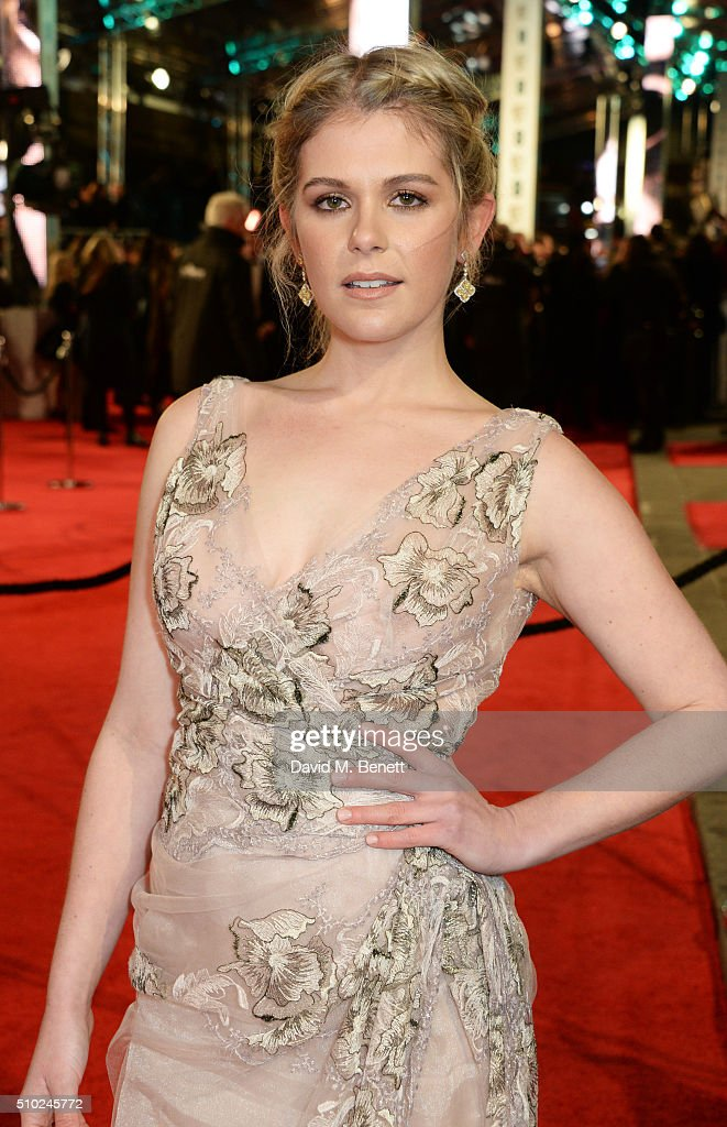 Hannah Arterton attends the EE British Academy Film Awards at The Royal Opera House on February 14, 2016 in London, England.