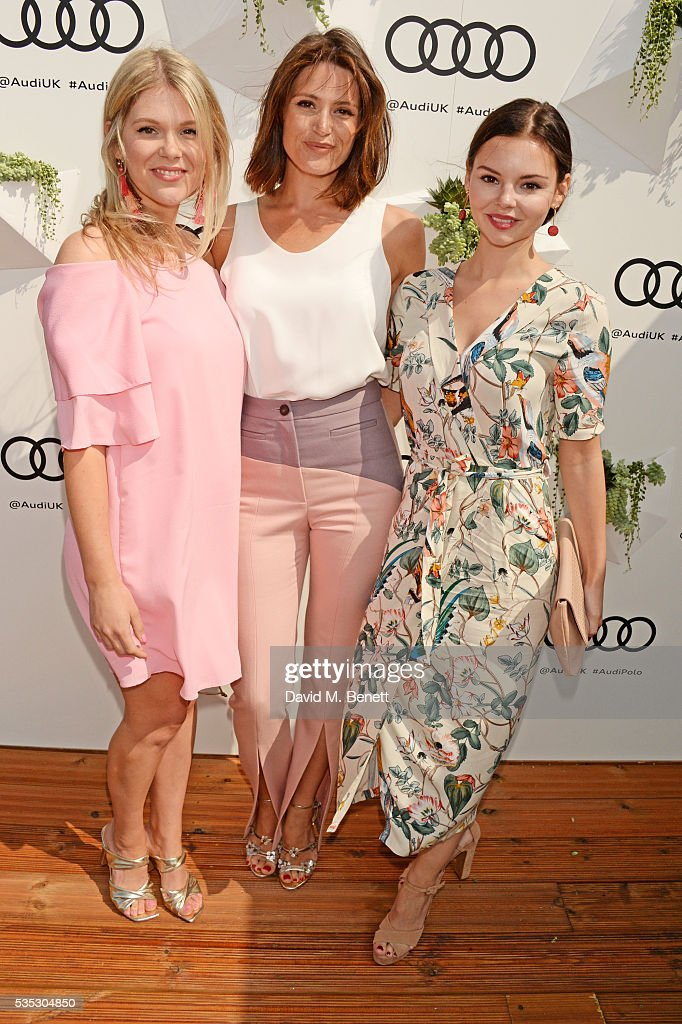 Hannah Arterton, <a gi-track='captionPersonalityLinkClicked' href=/galleries/search?phrase=Gemma+Arterton&family=editorial&specificpeople=4296305 ng-click='$event.stopPropagation()'>Gemma Arterton</a> and Eline Powell attend day two of the Audi Polo Challenge at Coworth Park on May 29, 2016 in London, England.