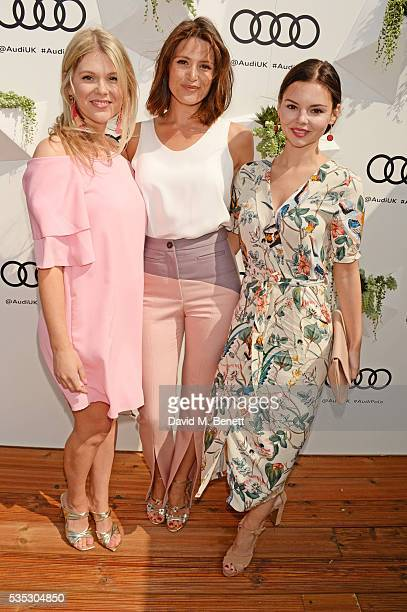 Hannah Arterton Gemma Arterton and Eline Powell attend day two of the Audi Polo Challenge at Coworth Park on May 29 2016 in London England