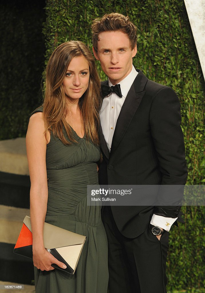 Hannah Bagshawe (L) and actor Eddie Redmayne arrive at the 2013 Vanity Fair Oscar Party at Sunset Tower on February 24, 2013 in West Hollywood, California.
