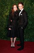 Hannah Bagshawe and Eddie Redmayne attend the 60th London Evening Standard Theatre Awards at London Palladium on November 30 2014 in London England