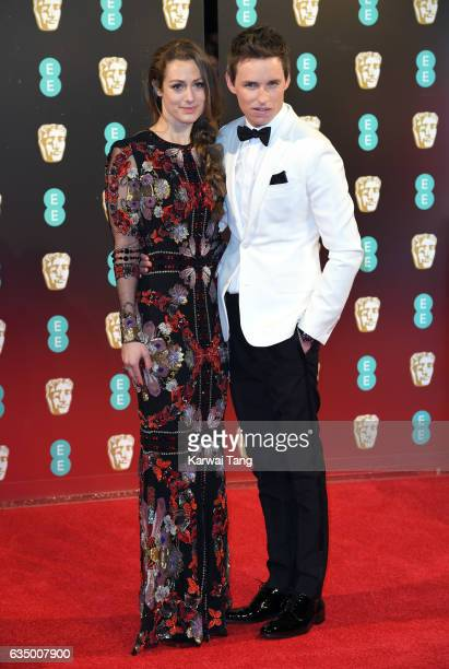 Hannah Bagshawe and Eddie Redmayne attend the 70th EE British Academy Film Awards at the Royal Albert Hall on February 12 2017 in London England