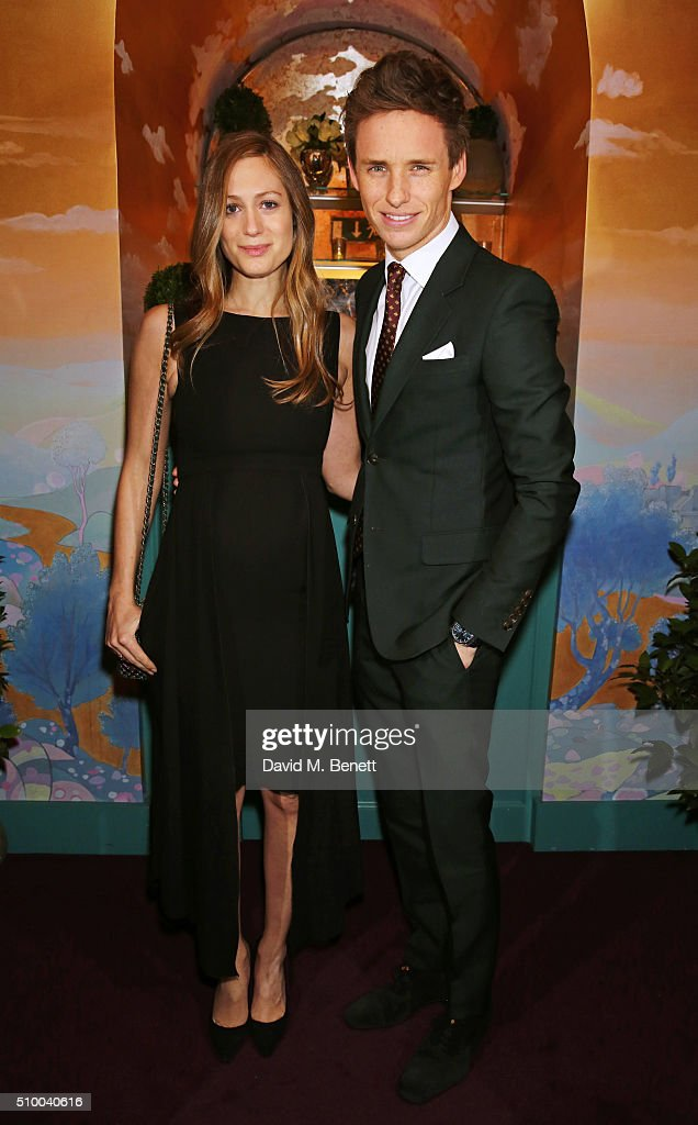 Hannah Bagshawe (L) and Eddie Redmayne attend the Charles Finch and Chanel Pre-BAFTA cocktail party and dinner at Annabel's on February 13, 2016 in London, England.