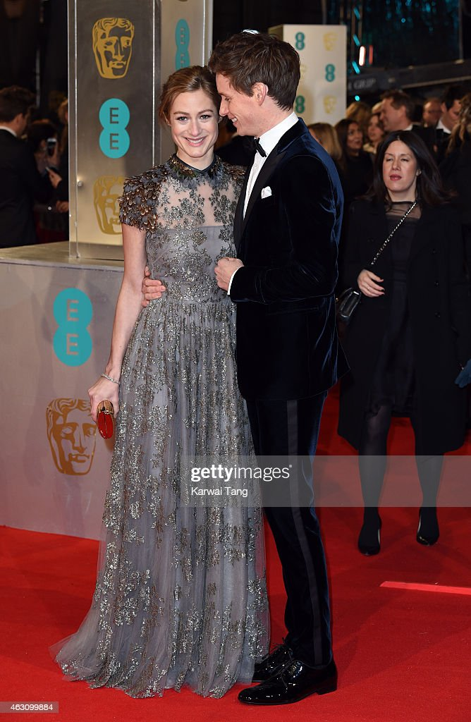 Hannah Bagshawe and Eddie Redmayne attend the EE British Academy Film Awards at The Royal Opera House on February 8, 2015 in London, England.