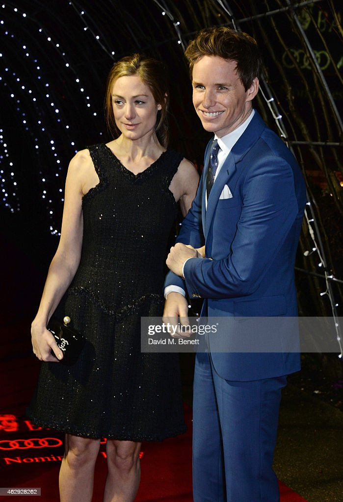 Hannah Bagshawe and Eddie Redmayne attend the EE British Academy Awards nominees party at Kensington Palace on February 7 2015 in London England