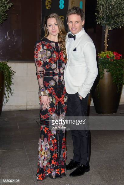 Hannah Bagshawe and Eddie Redmayne attend the official after party for the 70th EE British Academy Film Awards at The Grosvenor House Hotel on...