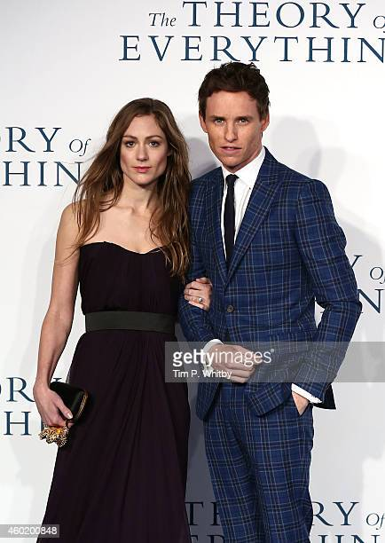 Hannah Bagshawe and Eddie Redmayne attend the UK Premiere of 'The Theory Of Everything' at Odeon Leicester Square on December 9 2014 in London England