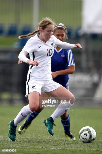 Hannah Blake of New Zealand in action during the Oceania U19 Womens Championship match between New Zealand and Samoa at Ngahue Reserve on July 21...