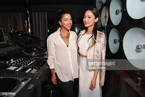 Hannah Bronfman and actress Jamie Chung attend Brancott Estate Flight Song Launch at PHD Lounge at the Dream Downtown on March 12 2014 in New York...
