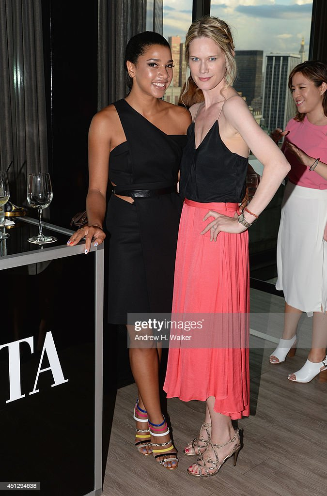 DJ Hannah Bronfman and actress Stephanie March attend Fashionista.com Celebrates 'How To Make It In Fashion' Conference With VIP Party At The Skylark In New York, NY on June 26, 2014 in New York City.