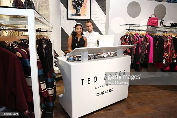Hannah Bronfman and Brendan Fallis attend Ted Baker Wooster VIP Event on September 22 2016 in New York City