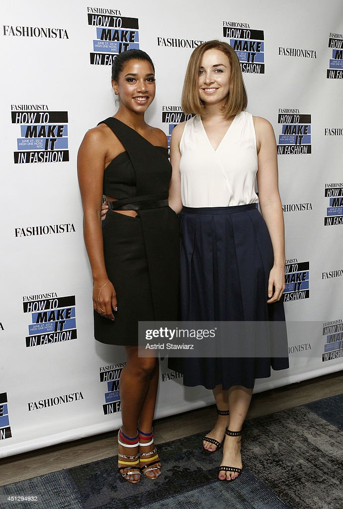DJ Hannah Bronfman and Fashionista.com editor in chief Lauren Indvik attends Fashionista.com Celebrates 'How To Make It In Fashion' Conference With VIP Party At The Skylark In New York, NY on June 26, 2014 in New York City.