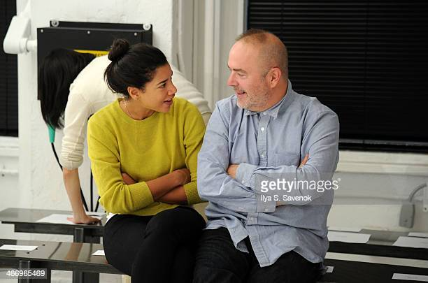 Hannah Bronfman and John Patrick attend Organic By John Patrick Fashion Show during MercedesBenz Fashion Week Fall 2014 on February 5 2014 in New...