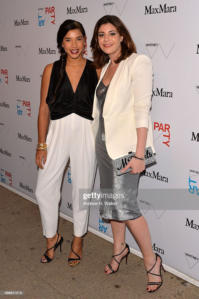 DJ <a gi-track='captionPersonalityLinkClicked' href=/galleries/search?phrase=Hannah+Bronfman&family=editorial&specificpeople=2569204 ng-click='$event.stopPropagation()'>Hannah Bronfman</a> (L) and <a gi-track='captionPersonalityLinkClicked' href=/galleries/search?phrase=Maria+Giulia+Maramotti&family=editorial&specificpeople=8531927 ng-click='$event.stopPropagation()'>Maria Giulia Maramotti</a>, US Director of Retail at Max Mara attend the Whitney Art Party sponsored by Max Mara at Highline Stages on May 8, 2014 in New York City.