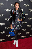 Hannah Bronfman attends Fendi New York Flagship Boutique Inauguration Party during MercedesBenz Fashion Week at Fendi Madison Avenue on February 13...