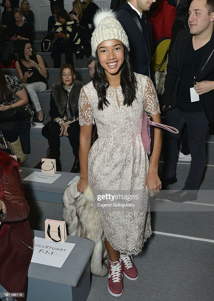 Hannah Bronfman attends Jill Stuart during Fall 2013 Mercedes-Benz Fashion Week at The Stage at Lincoln Center on February 9, 2013 in New York City.