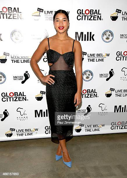 Hannah Bronfman attends The Global Poverty Project hosts the 4th annual Live Below The Line launch party at Milk Studios on March 13 2015 in New York...