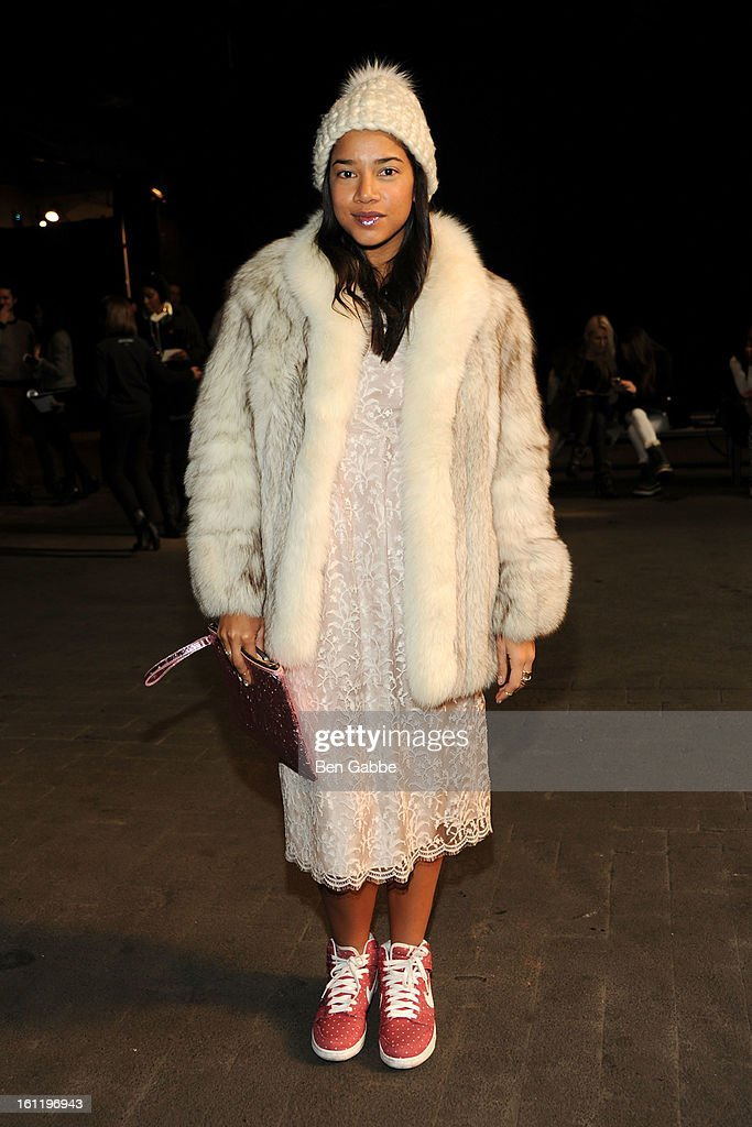 Hannah Bronfman attends the Jen Kao fall 2013 fashion show during Mercedes-Benz Fashion Week at Skylight Studios at Moynihan Station on February 9, 2013 in New York City.