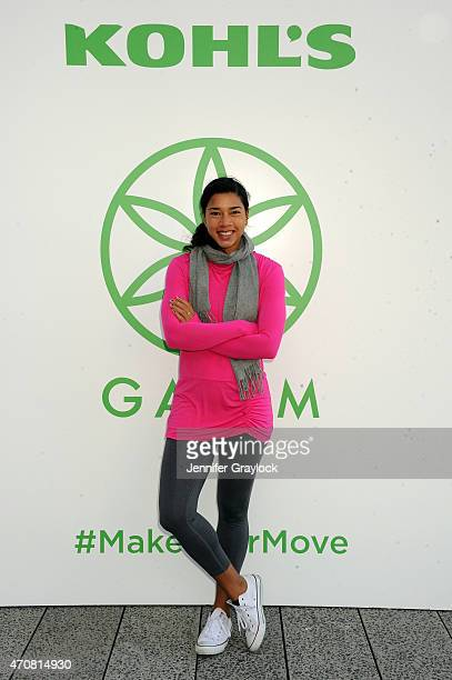 Hannah Bronfman attends the Kohl's exclusive Gaiam apparel launch event at High Line on April 23 2015 in New York City