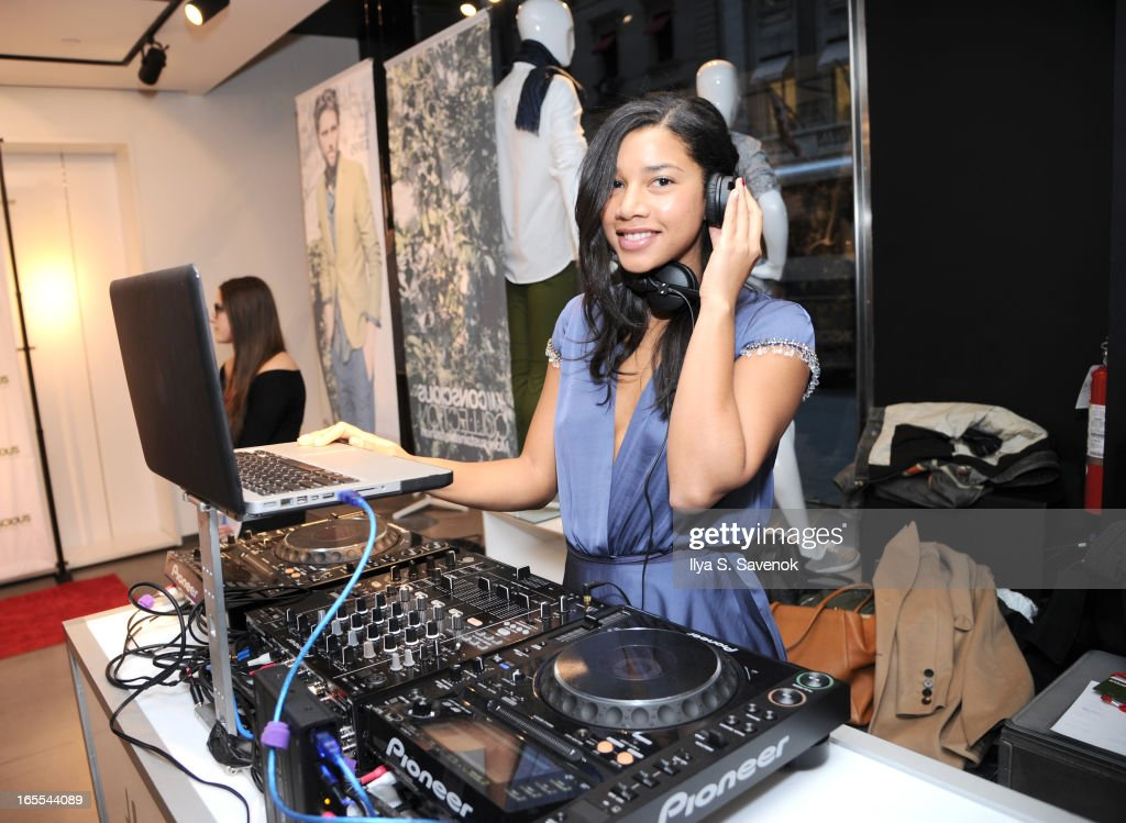 DJ Hannah Bronfman performs during the H&M's Conscious Collection Launch Event at H&M Fifth Avenue on April 4, 2013 in New York City.