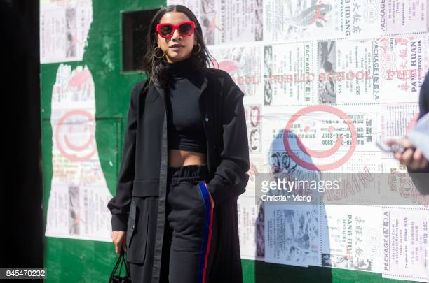 Hannah Bronfman seen in the streets of Manhattan outside Public School during New York Fashion Week on September 10 2017 in New York City