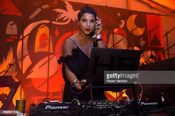 Hannah Bronfman spins at The Dean Collection X BACARDI Untameable House Party on December 3 2015 in Miami Florida
